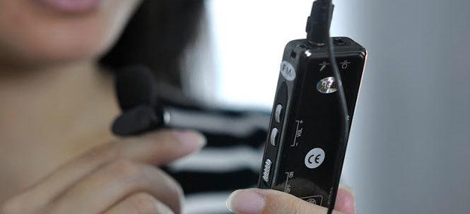 registratore vocale a lavoro